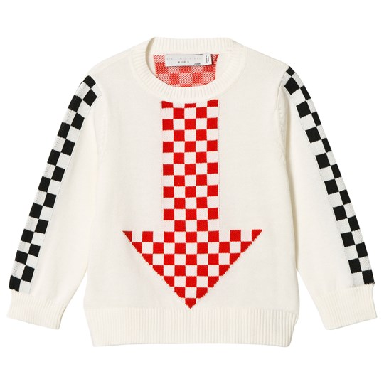 Stella McCartney Kids Cream Arrow Knit Narrow Jumper 9232