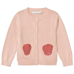 Stella McCartney Kids Pink Lauren Cardigan with Shell Pockets