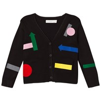 Stella McCartney Kids Ellis Geometric Shape Cardigan Svart 1073