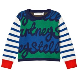 Stella McCartney Kids Blue Stripe Federica Knit Jumper