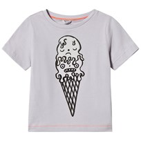 Stella McCartney Kids Grey Ice Cream Color Change Arlow Tee 5351