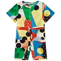 Stella McCartney Kids Multi Color Dinks Woven Romper 9083