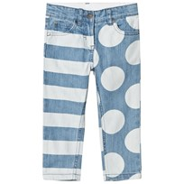 Stella McCartney Kids Loan Jeans med Ränder och Prickar 4266