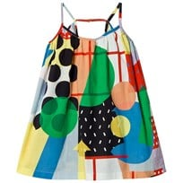 Stella McCartney Kids Multi Color Abstract Print Tess Klänning 9083