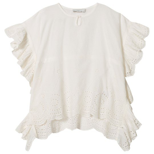 Stella McCartney Kids White Embroidery Anglaise Alberta Kaftan 9082