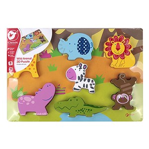 Image of Classic World Wild Animals 3D Puzzle 12 months - 4 years (2890593881)
