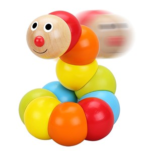 Image of Classic World Activity Toy Wood, Caterpillar 12 - 24 months (2890586643)