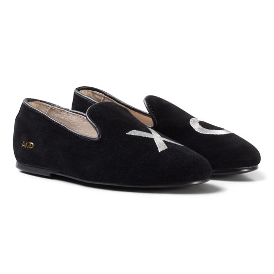 AKID XO Broderade Pumps Svart Black