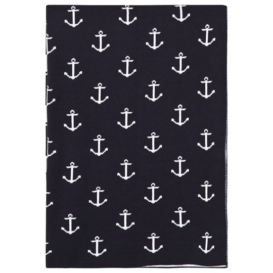 Kissy Kissy Navy Anchor Print Blanket NV