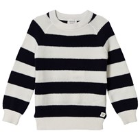 Carrément Beau Navy and White Stripe Jumper N78
