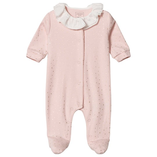 Carrément Beau Pink Frill Collar Footed Baby Body 453