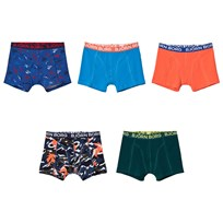 Bjorn Borg 5-Pack of Print and Solid Trunks 71021 SURF THE WEB