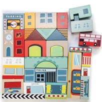 Le Toy Van Timber Town Blocks Multi