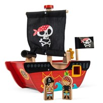 Le Toy Van Little Captain and Pirate Boat пестрый