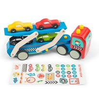 Le Toy Van Race Car Transporter Set Multi
