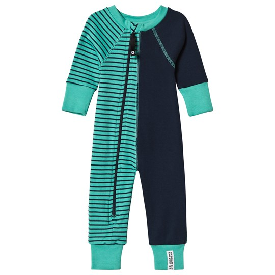 Geggamoja Two-Color One-Piece Green/Marine Greenturq/marine