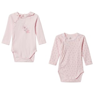 Image of Petit Bateau Pink Wrap Bodies (2 Pack) 1 Month (2898091179)