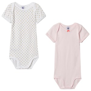 Image of Petit Bateau Baby Bodies (2 Pack) Pink/White 12 months (2898090579)