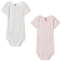 Petit Bateau Baby Bodies (2 Pack) Pink/White