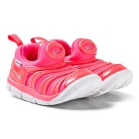 NIKE Pink and White Nike Dynamo Free Shoes 620