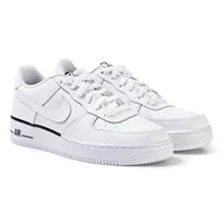 NIKE White and Navy Boys Nike Air Force Shoes 103
