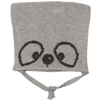 United Colors of Benetton Knit Panda Baby Hat Grey Melange Melange Grey