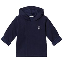United Colors of Benetton Soft Jersey Hooded Jacket With Bunny Detail Navy Marinblå