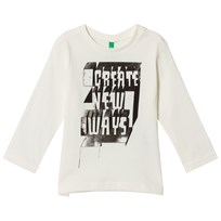 United Colors of Benetton Create New Ways T-Shirt Off White Off white