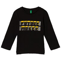 United Colors of Benetton Future Maker T-Shirt Black Black