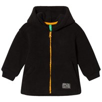 United Colors of Benetton Fleece Zip Hoodie with Contrast Colour Zip Black Black
