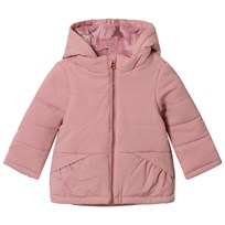 United Colors of Benetton Soft Warm Quilted Hooded Puffer Jacket Pink Pink