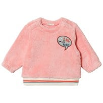 United Colors of Benetton Soft Fleece Patch Sweater With Lurex Stitch Pink Pink