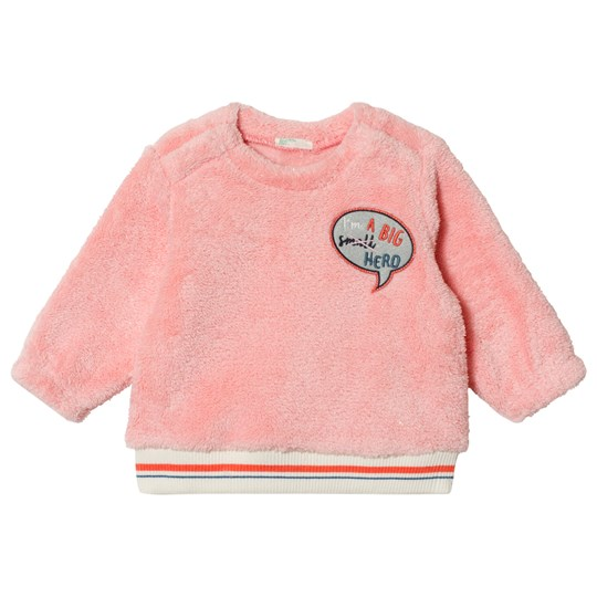 United Colors of Benetton Fleece Patch Lurex Stitch Tröja Rosa Pink