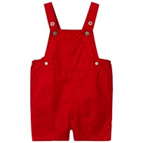 Petit Bateau Baby Dungarees Red