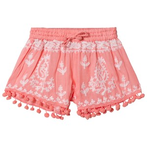 Image of Melissa Odabash Coral Embroidered Pom Pom Shorts 10 years (2899232475)