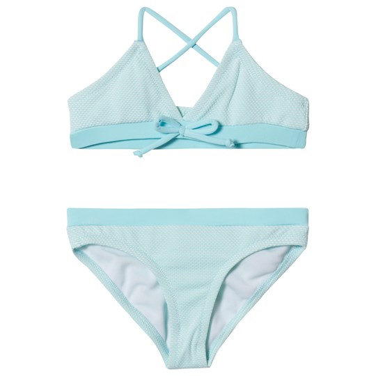 Melissa Odabash Blue with Aqua Trim Sky Triangle Bikini CELESTE SCALES