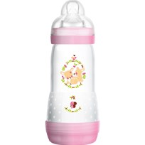 MAM Nappflaska, Easy Start, Anti Colic, 320 ml, Rosa Pink