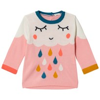 United Colors of Benetton Knit Sweater With Cloud Detail Pink Pink