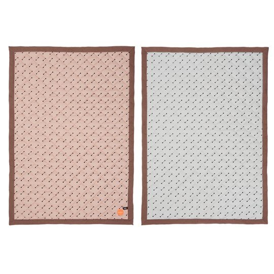 OYOY Quilted Blanket Rose/Grey Multi