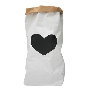 Image of Tellkiddo Black Heart Paper Bag (2882745433)
