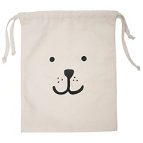 Tellkiddo Bear Small Tygpåse White