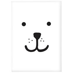 Tellkiddo Animal Face Bear A4 Poster