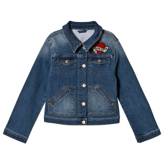 Guess Denim Jacket with Embroidered Details BVWS