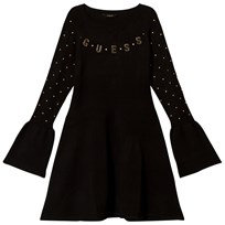 Guess Black Knit Dress with Gold Branding A996