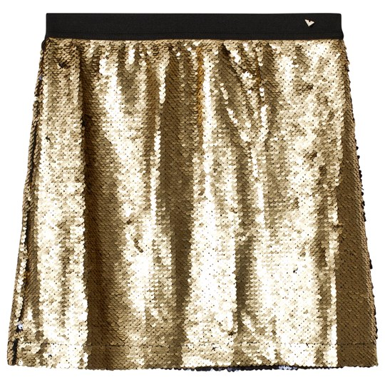 Guess Gold and Black Sequin Skirt Gold