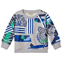 Kenzo Grey Multi Icon Print Sweatshirt 22
