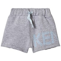 Kenzo Grey and Blue Logo Sweat Shorts 22