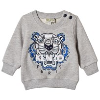 Kenzo Grey Marl Embroidered Sweatshirt 22