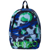 Kenzo Navy and Blue Tiger Print and Logo Backpack 49