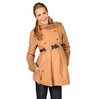 Mom2Mom Cashmere Coat Collar Latte BROWN